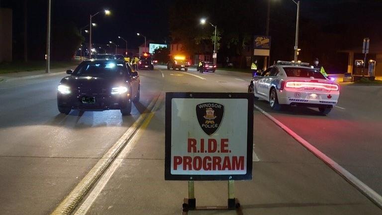 RIDE program in Windsor, Ont., on Oct. 2, 2020. (Source: Windsor police / Twitter)