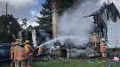 A house in West Elgin was destroyed after a fire broke out on Monday, Oct 5, 2020. (Jim Knight / CTV London)