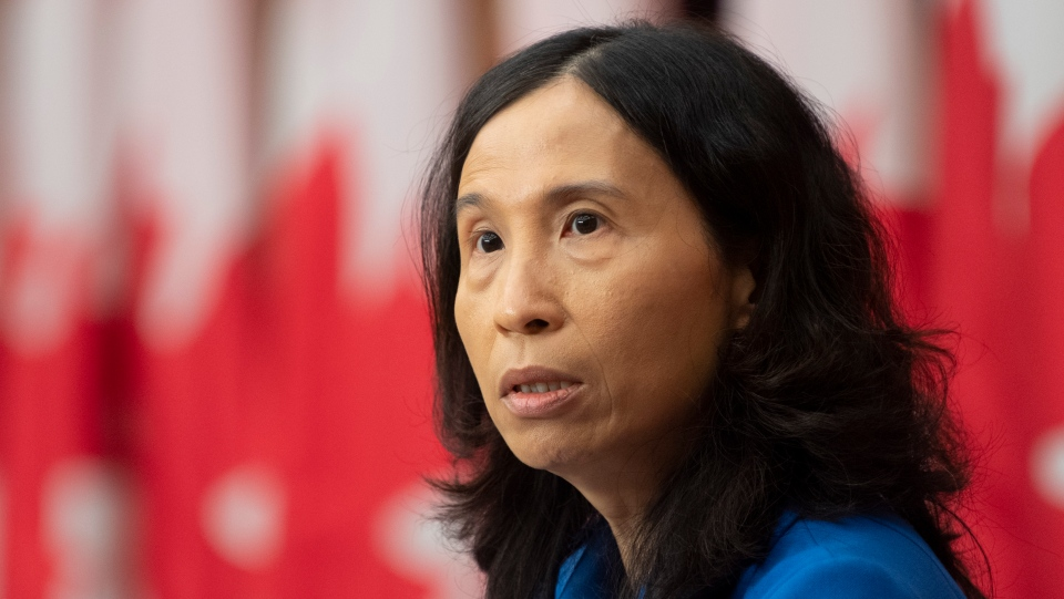 Chief Public Health Officer Theresa Tam responds to a question during a news conference Monday October 5, 2020 in Ottawa. THE CANADIAN PRESS/Adrian Wyld