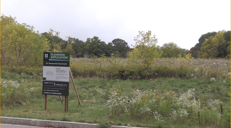 The site for a proposed new subdivision in southeast London. (Daryl Newcombe / CTV London)