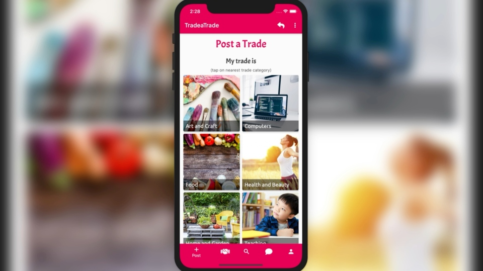 A screenshot of the 'Trade A Trade' app which St. Clair College student Ali Dali helped to create. (Courtesy: Ali Dali).