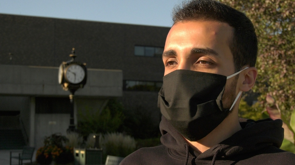 Ali Dali, a student at St. Clair College, in Windsor, Ont. on Friday, Sept. 18, 2020 (Ricardo Veneza/CTV Windsor)