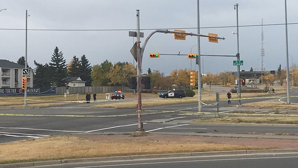 CPS members cordoned off Memorial Drive at the 36 Street East intersection following Tuesday morning's death of a man who fell out of a vehicle. The road has since reopened.