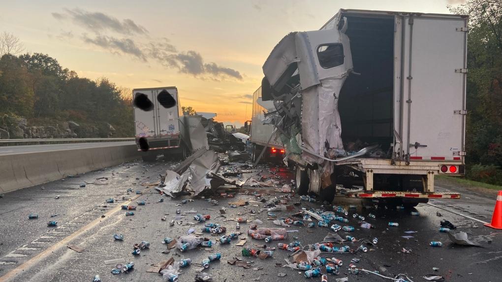 Highway 401 crash Brockville