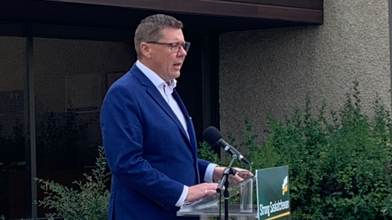 Scott Moe speaks at a Oct. 6, 2020 campaign event in Saskatoon. (Dan Shingoose/CTV News)