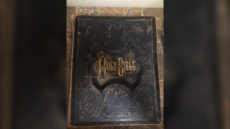 A family bible belonging to a family that once lived in Ottawa was found in Calgary. Bonnie Gerard is now trying to reunite the heirloom with descendants of the family that once owned it. (Photo courtesy of Bonnie Gerard)