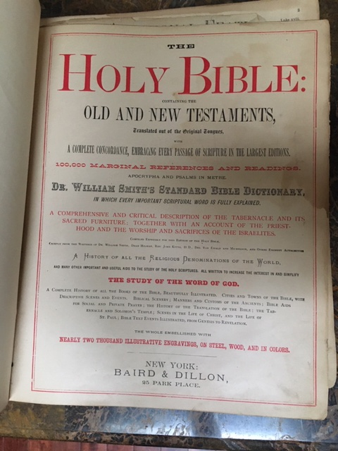 Ottawa family bible page