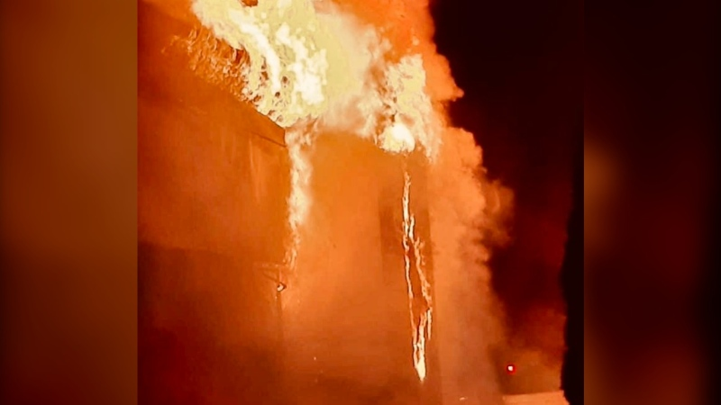 Nanaimo Fire Rescue responded to a fire at a Husky Gas Station around 3 a.m. Tuesday morning: (Stevie Sawatzky)