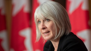 Minister of Health Patty Hajdu responds to a question during a news conference Monday October 5, 2020 in Ottawa. THE CANADIAN PRESS/Adrian Wyld