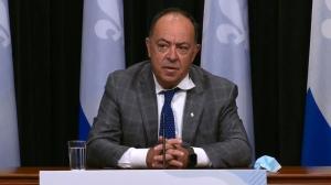 Health Minister Christian Dube