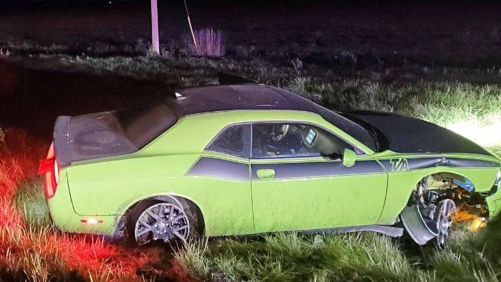 Alleged stolen Dodge Challenger on Oct. 6, 2020. (k9_london/Twitter)
