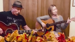 Sudbury's Tommy Fyfe and daughter, Stef, sing an original called 'I Guess That's Love.'