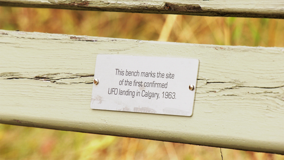 A series of engraved plaques have been added to some old park benches in northwest Calgary containing whimsical messages that are winning fans from the neighbourhood