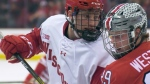 The Edmonton Oilers signed Dylan Holloway from the University of Wisconsin Badgers to a pro contract after drafting him 14th overall (File)
