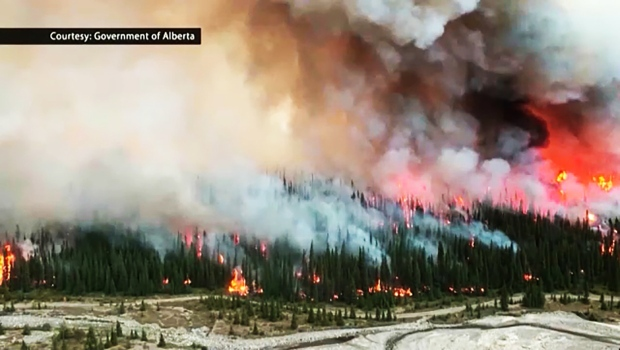 Bighorn fire burns out of control