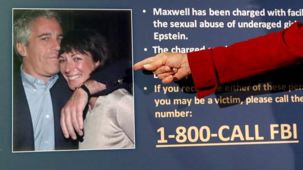 Jeffrey Epstein and Ghislaine Maxwell are pictured