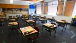 A grade six classroom at a Scarborough, Ont. school is shown on Monday, September 14, 2020. THE CANADIAN PRESS/Nathan Denette