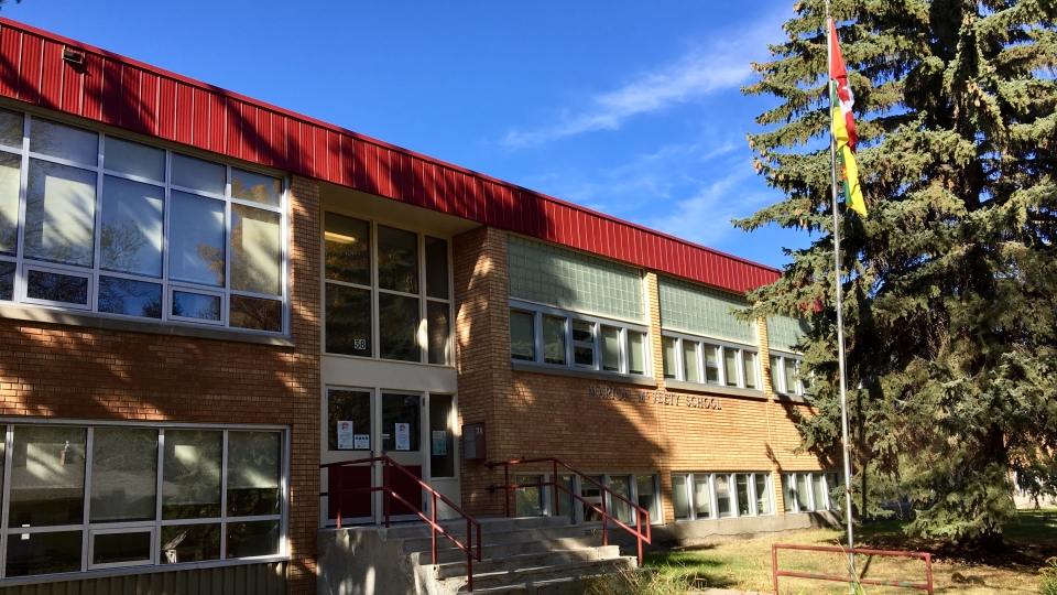 Marion McVeety School is closed Wednesday after a positive COVID-19 case. (Gareth Dillistone / CTV News Regina)