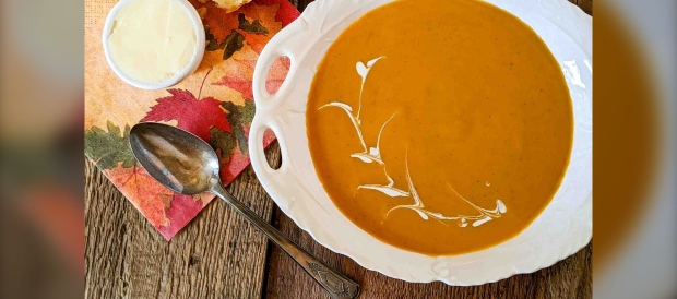 Warm spices of the season infuse this delicious butternut squash soup. (CJ Katz Photo)
