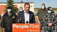 Speaking in Moose Jaw, Meili said on Wednesday the Saskatchewan First procurement policy aims to keep jobs in the province. (Saskatchewan NDP Photo)