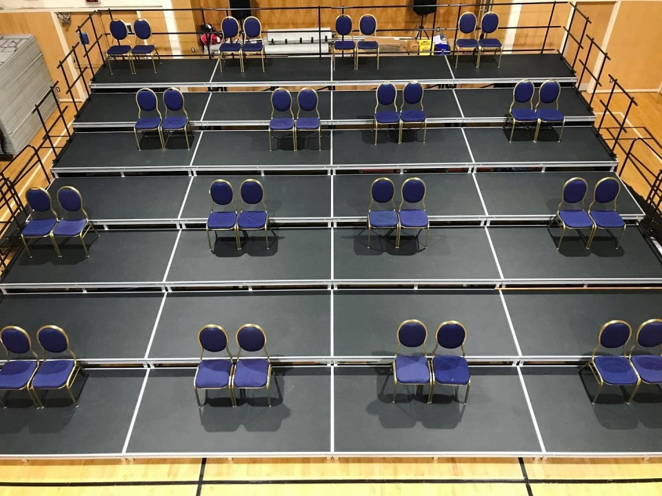 An example of new physically-distanced seating for ballet performances is shown: (Ballet Victoria / Facebook)