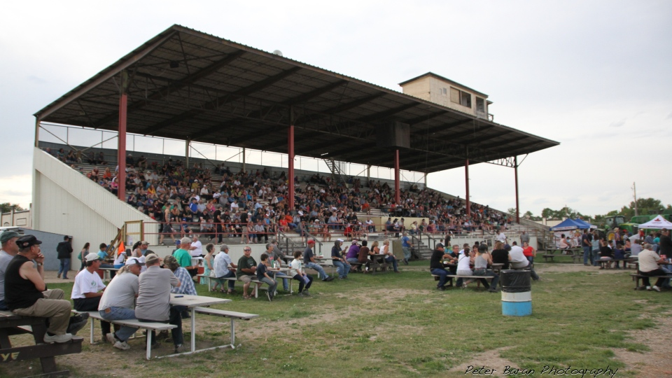 A file photo of the grandstands in Yorkton taken before the COVID-19 pandemic. The Yorkton Exhibition Association (YEA) and the city partnered to replace the current grandstands at the fair grounds. (CTV News)