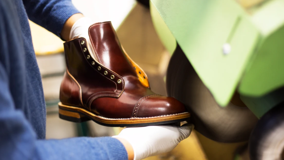 A Viberg shoe is seen in this photo from the company's website.