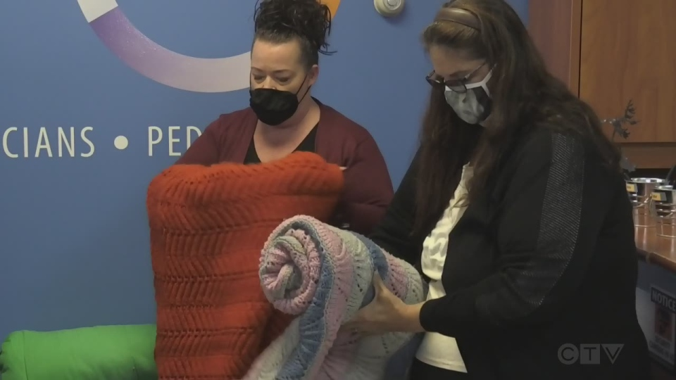 Warming centre collecting blankets for homeless