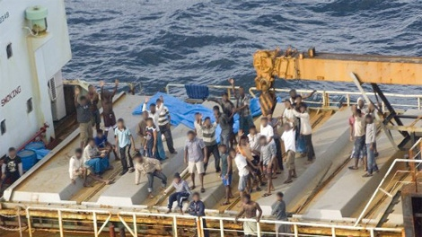 There were 76 people aboard the vessel seized by RCMP on Saturday, Oct. 17, 2009. (RCMP handout)