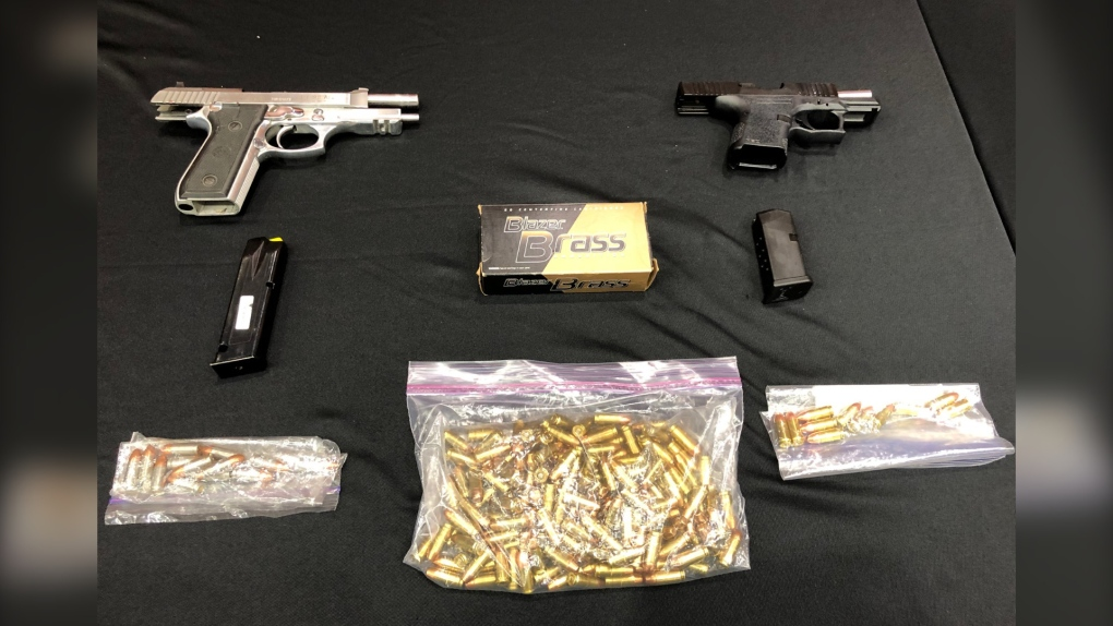 Guns seized in New West