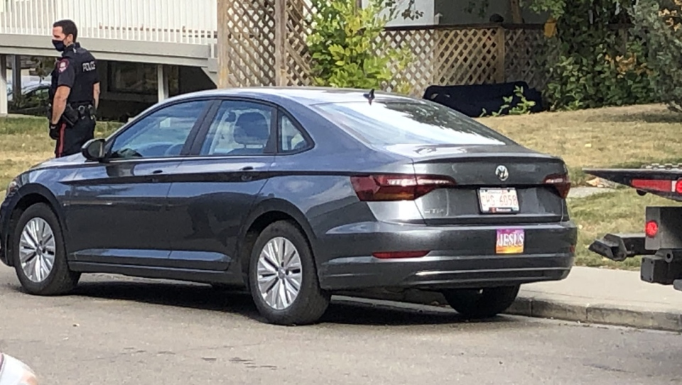 Calgary police located a vehicle believed to be connected to an Oct. 6 homicide on Memorial Drive in the community of Bankview on Oct. 8.
