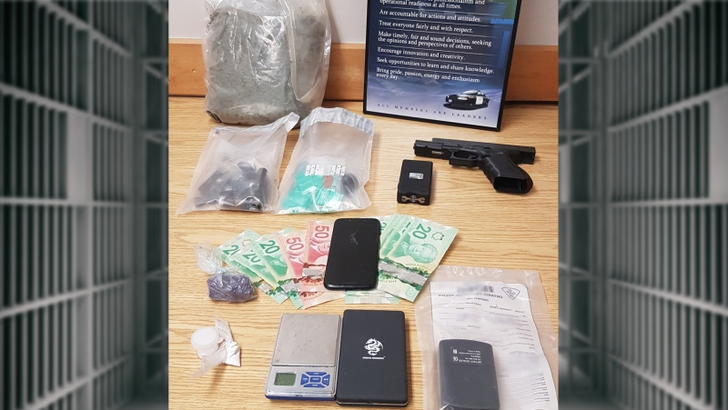 The Elgin-Middlesex community Street Crime Unit (CSCU) search warrant seizure, as shown in this image from October, 8, 2020 (Source: OPP)