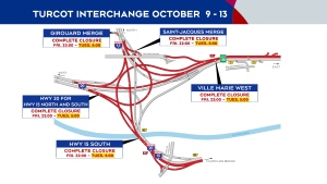 Turcot closures Oct. 9-13