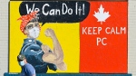 A man walks past a mural during the COVID-19 pandemic in the Port Credit neighbourhood of Mississauga, Ont., Friday, Oct. 9, 2020. THE CANADIAN PRESS/Nathan Denette