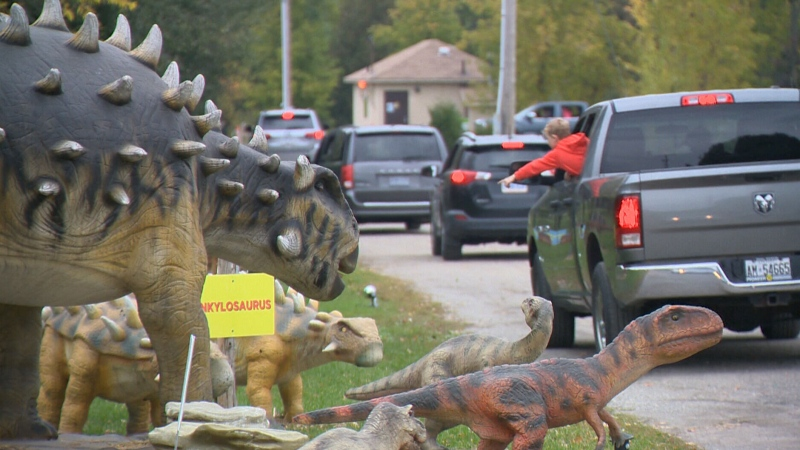 A dinosaur drive-thru in Waterloo Region