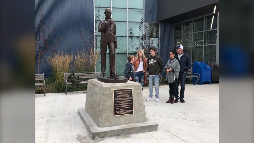 Darcy Haugan statue