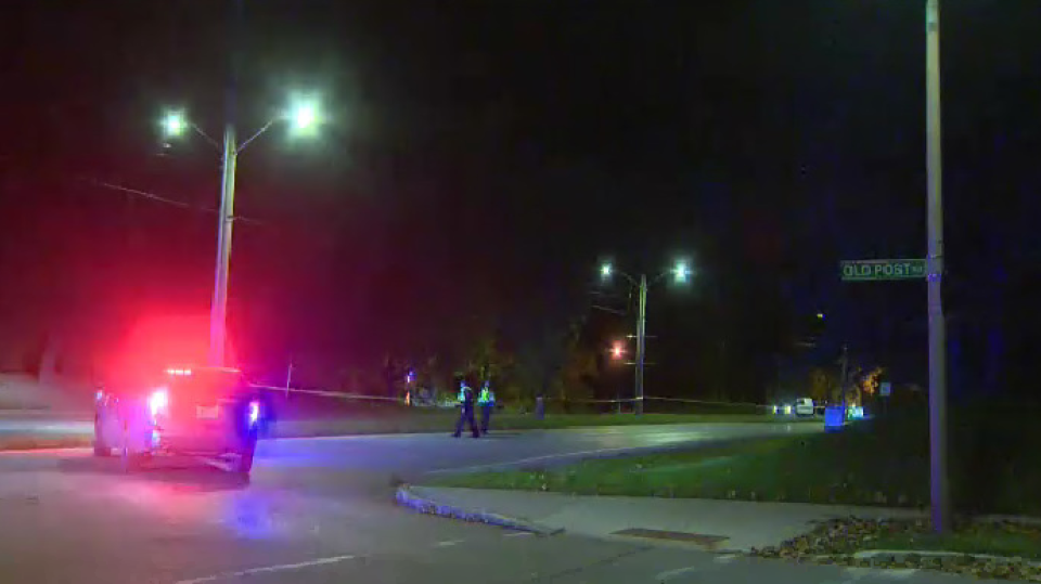 Speed is considered a factor in a Waterloo crash that left two people dead. (Adam Marsh - CTV Kitchener) (Oct. 11, 2020)