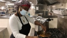 Chef Christine Robinson cooks meals to be dropped off at GTA shelters (Mike Walker/CTV News Toronto)