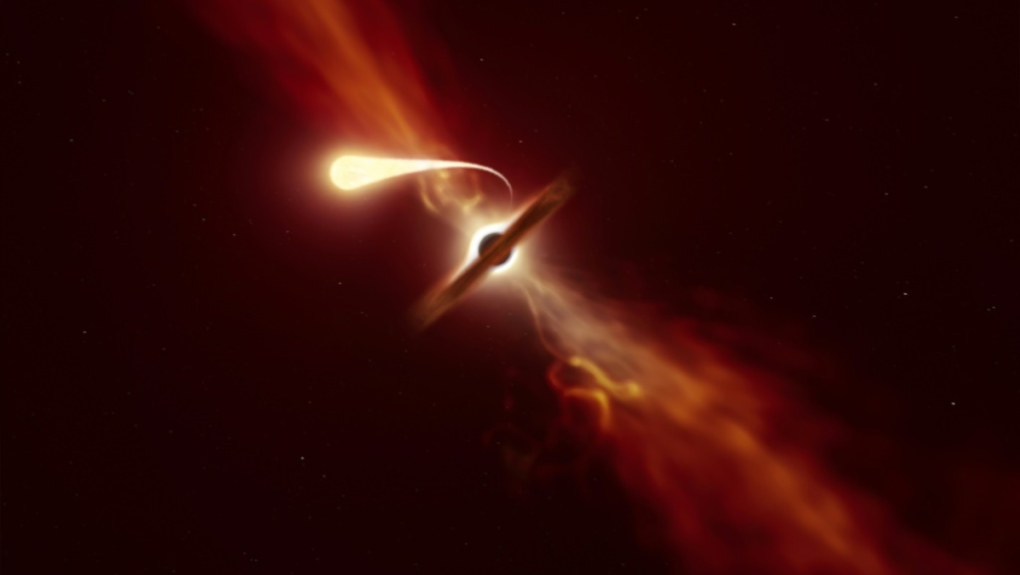Telescopes Record Last Moments of Star Devoured by a Black Hole