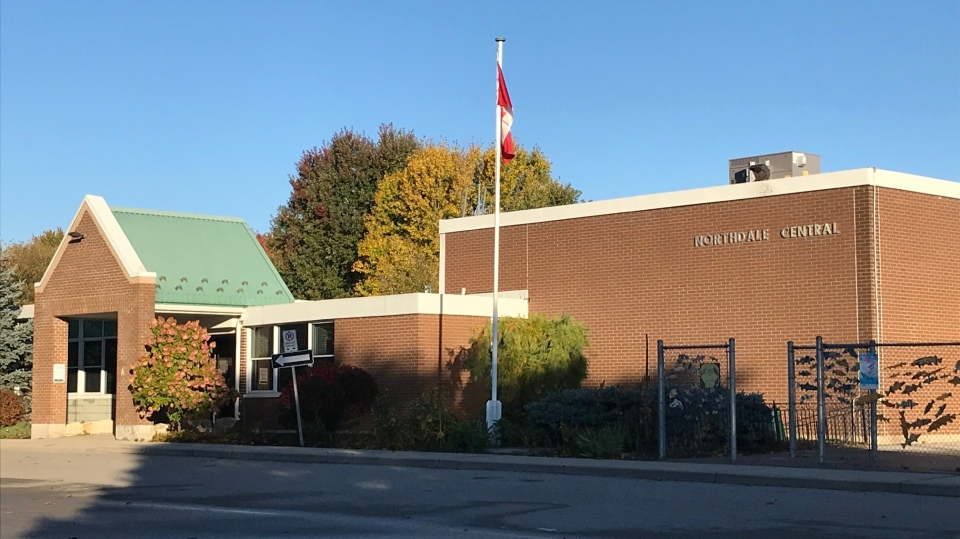 Northdale Central School in Dorchester, Ont. is seen on Tuesday, Oct. 13, 2020. (Sean Irvine / CTV News)