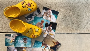 In one of the more unlikely collaborations of 2020, Justin Bieber has designed a pair of Crocs. (Crocs / CNN)