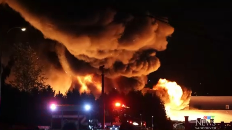 New West recycling fire Oct. 12, 2020.