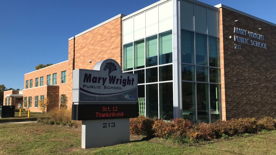 Mary Wright Public School in Strathroy, Ont. is seen on Tuesday, Oct 13, 2020. (Sean Irvine / CTV News)