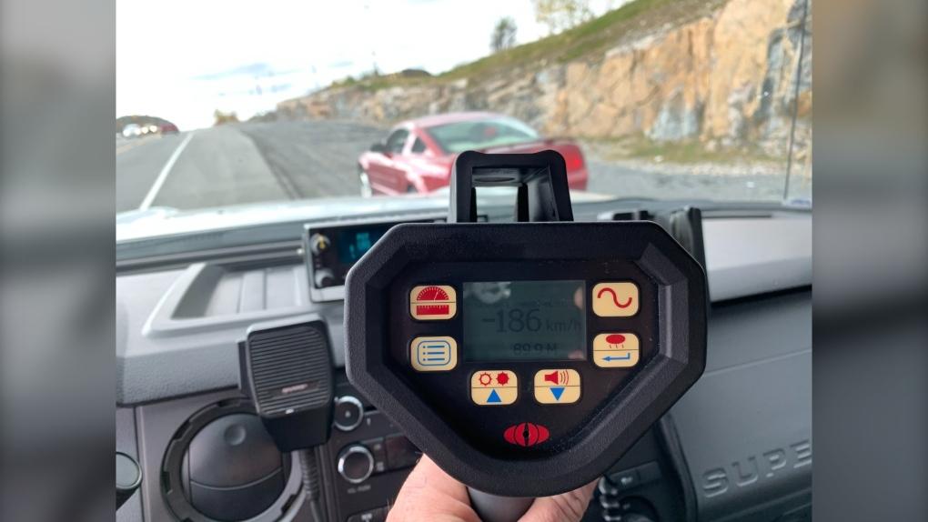 Sudbury police nab stunt driver doing 186 km/h