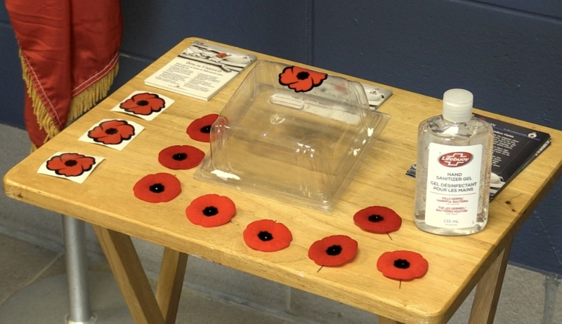 Remembrance Day is now less than a month away and this year, it will look a little different. Local legions have had to make some changes to the way they sell poppies. (Molly Frommer/CTV News)