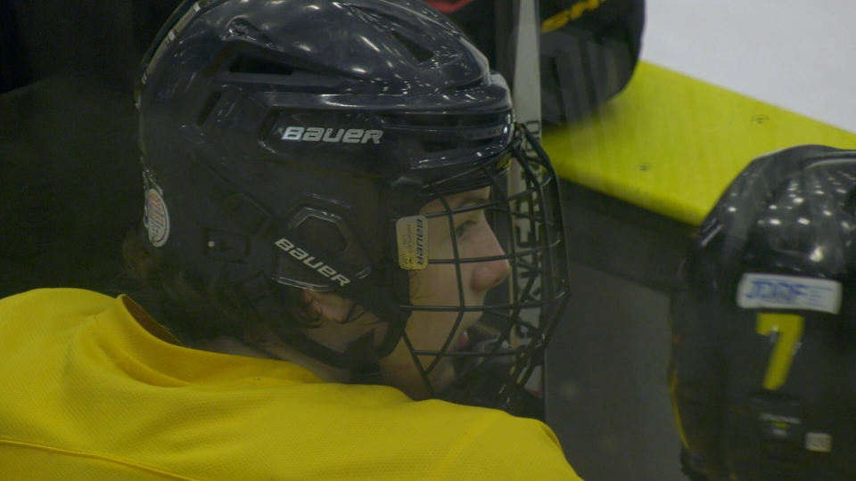 Defenseman Owen Simmons is 16-years-old, two years younger than most of his teammates with the Estevan Bruins. (CTV News)