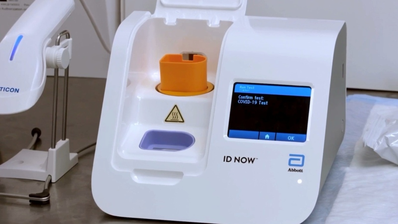 Abbott's ID NOW test is expected to arrive in Canada this week. (Source: YouTube/Abbott).