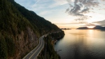 Sea to Sky Highway in Howe Sound near Horseshoe Bay, West Vancouver, B.C. (shutterstock.com)