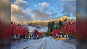 Main Street in Rossland, B.C., is pictured Sunday Oct.11, 2020. (Submitted / Richard Migneault)