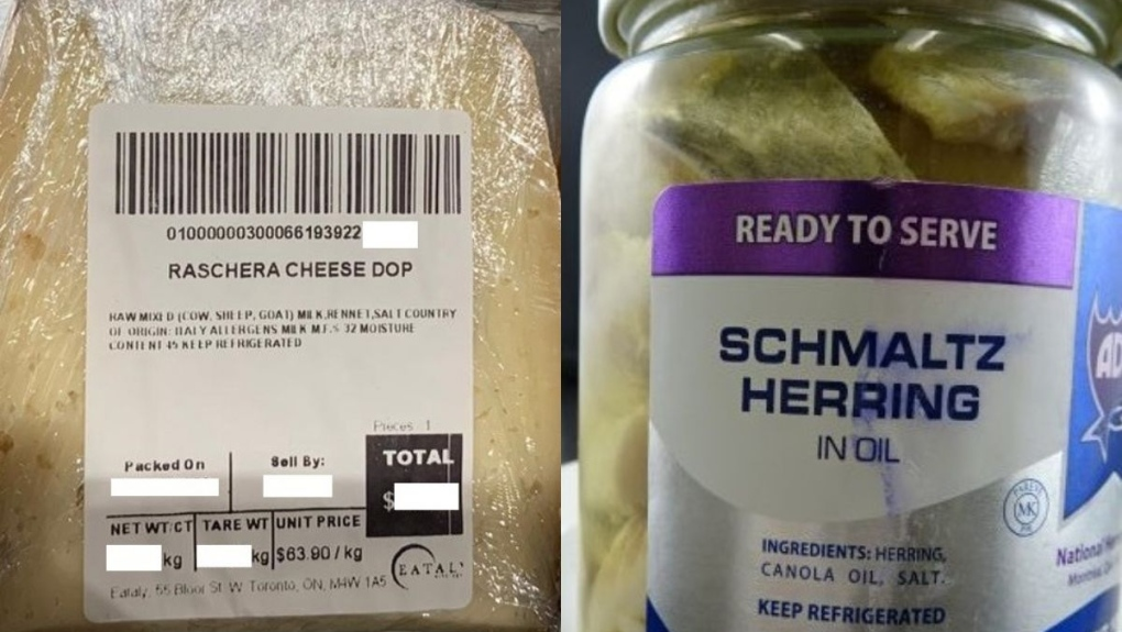CFIA issue recall for cheese and herring
